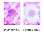 bauhaus cover set with liquid... | Shutterstock .eps vector #1198614028