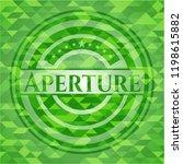 aperture green emblem with... | Shutterstock .eps vector #1198615882