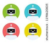 robot icon set. bot sign design.... | Shutterstock .eps vector #1198620835