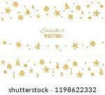 christmas golden decoration... | Shutterstock .eps vector #1198622332