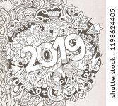 cartoon vector cute doodles... | Shutterstock .eps vector #1198624405