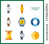 9 minute icon. vector... | Shutterstock .eps vector #1198628902