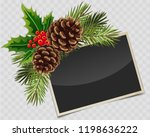 vector branch of christmas tree ... | Shutterstock .eps vector #1198636222