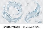 transparent vector water splash ... | Shutterstock .eps vector #1198636228