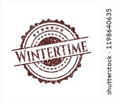 red wintertime with rubber seal ... | Shutterstock .eps vector #1198640635