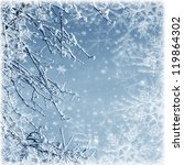 misty winter picture with tree  ...   Shutterstock . vector #119864302
