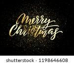 christmas golden light sparkles ... | Shutterstock .eps vector #1198646608
