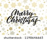 merry christmas golden and... | Shutterstock .eps vector #1198646665