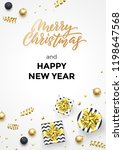 happy new year and merry... | Shutterstock .eps vector #1198647568