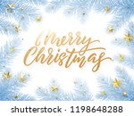 gold christmas text card on... | Shutterstock .eps vector #1198648288