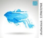 blue brush stroke and texture....   Shutterstock .eps vector #1198652968