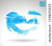 blue brush stroke and texture.... | Shutterstock .eps vector #1198653025