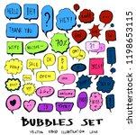 bubble doodle color icon line... | Shutterstock .eps vector #1198653115