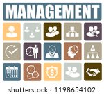management icons set | Shutterstock .eps vector #1198654102