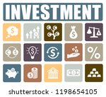 investment icons set | Shutterstock .eps vector #1198654105