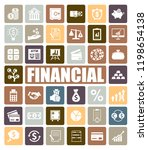 financial icons set | Shutterstock .eps vector #1198654138