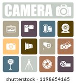 camera icons set | Shutterstock .eps vector #1198654165