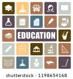 education icons set | Shutterstock .eps vector #1198654168