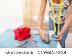 young fashion designer woman... | Shutterstock . vector #1198657018