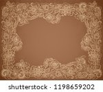 vintage style chocolate colors... | Shutterstock . vector #1198659202