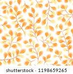 orange watercolor style leaves... | Shutterstock . vector #1198659265