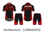 cycling jerseys mockup t shirt... | Shutterstock .eps vector #1198660552
