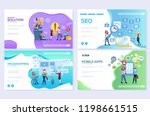 set of mobile website... | Shutterstock .eps vector #1198661515