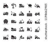 construction machinery glyph... | Shutterstock .eps vector #1198662985
