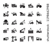 heavy equipment solid icons  | Shutterstock .eps vector #1198662988