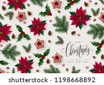 christmas greeting card with... | Shutterstock .eps vector #1198668892