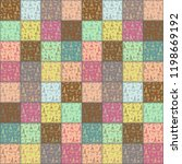 patchwork pattern with france... | Shutterstock . vector #1198669192