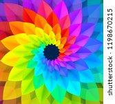 bright spectrum colors spiral... | Shutterstock . vector #1198670215