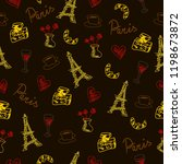 seamless pattern with france... | Shutterstock . vector #1198673872