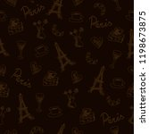 seamless pattern with france... | Shutterstock . vector #1198673875