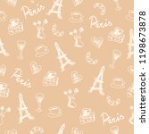 seamless pattern with france... | Shutterstock . vector #1198673878