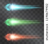 arrow laser glow vector... | Shutterstock .eps vector #1198679902