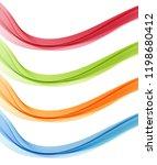 set of abstract vector flow...   Shutterstock .eps vector #1198680412