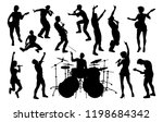 a set of musicians  rock or pop ... | Shutterstock .eps vector #1198684342