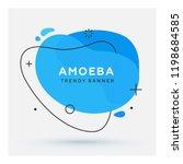 modern abstract vector banner.... | Shutterstock .eps vector #1198684585