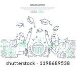 graduation   colorful line...   Shutterstock .eps vector #1198689538