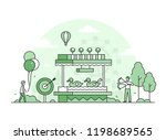 shooting gallery   thin line...   Shutterstock .eps vector #1198689565