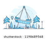 amusement park   thin line... | Shutterstock .eps vector #1198689568