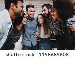 multi ethnic. team unity. look. ... | Shutterstock . vector #1198689808