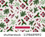 decorative christmas background ... | Shutterstock .eps vector #1198689892