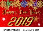 2019 happy new year with... | Shutterstock .eps vector #1198691185