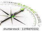3d illustration of a compass... | Shutterstock . vector #1198693102