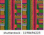 tribal vector ornament.... | Shutterstock .eps vector #1198696225
