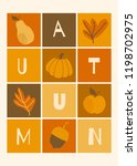 autumn design with colorful... | Shutterstock .eps vector #1198702975