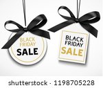 black friday sale tag with... | Shutterstock .eps vector #1198705228