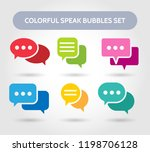 colorful speech bubble signs.... | Shutterstock .eps vector #1198706128